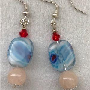 Handmade earrings, mindfulness gems